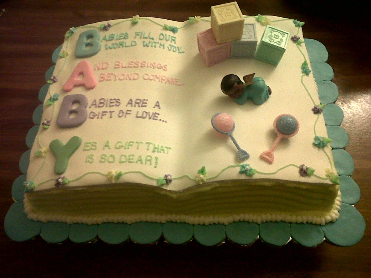 Free Cake Design Books : book themed baby shower cakes