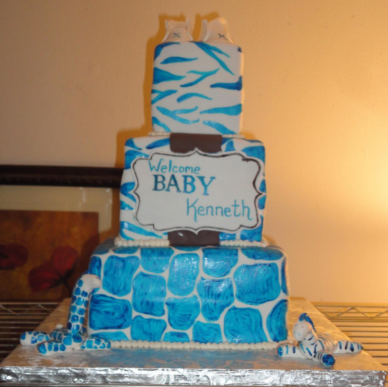 blue zebra baby shower cakes  baby wall, Baby shower